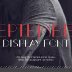September Free Display Font