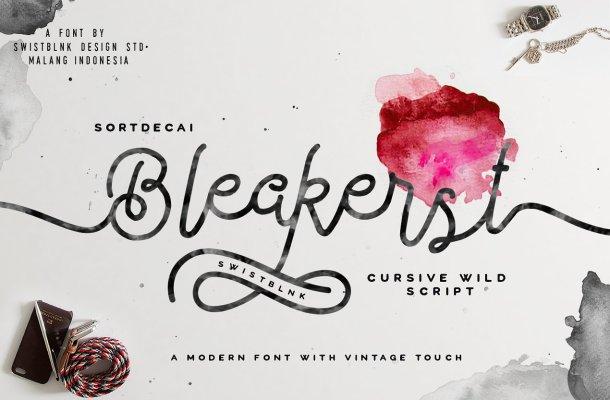 Bleakerst Free Script Font