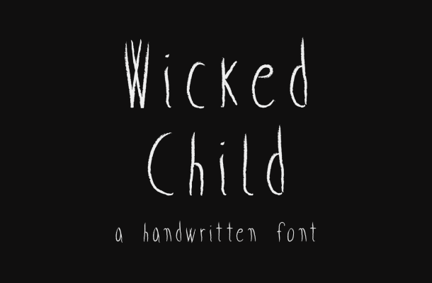 Wicked Child Free Handwritten Font