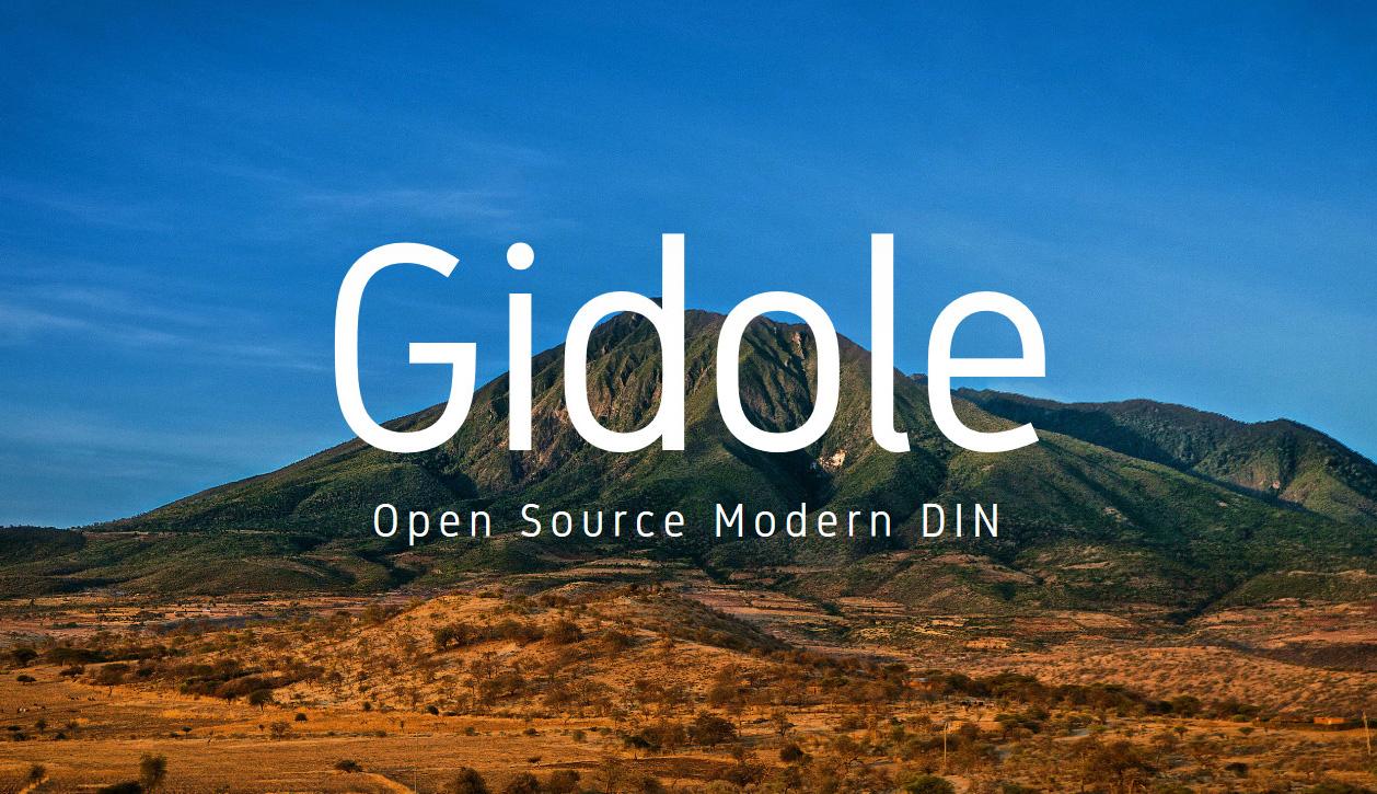 Gidole free font