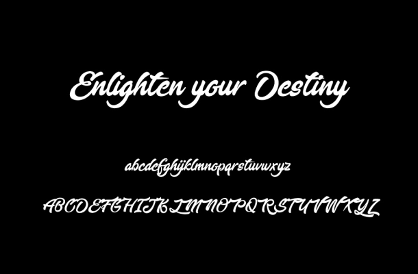 Enlighten your Destiny Font Free