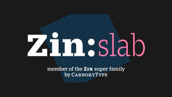 Zin Slab Font Family
