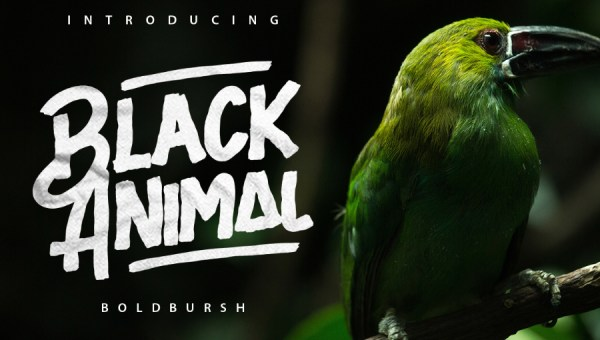 Black Animal Font