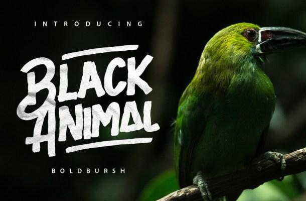Black Animal Font