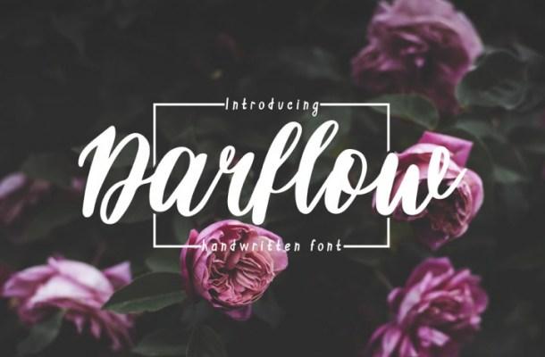 Darflow Handwritten Script Font