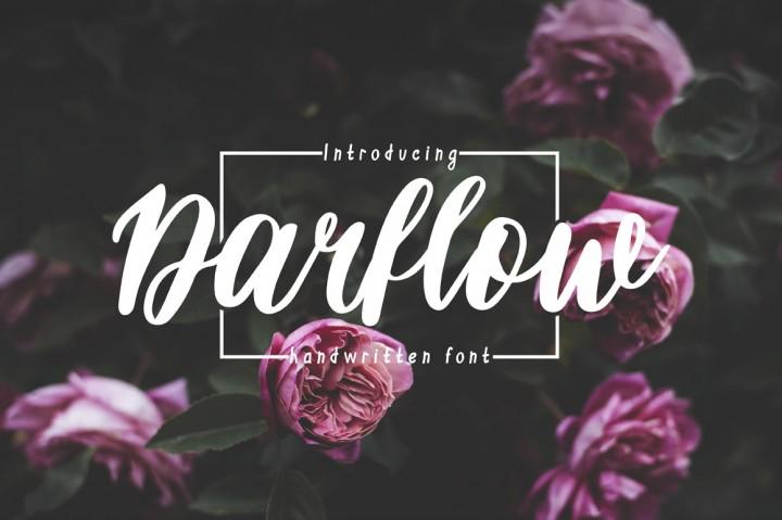 darflow-handwritten-script-font