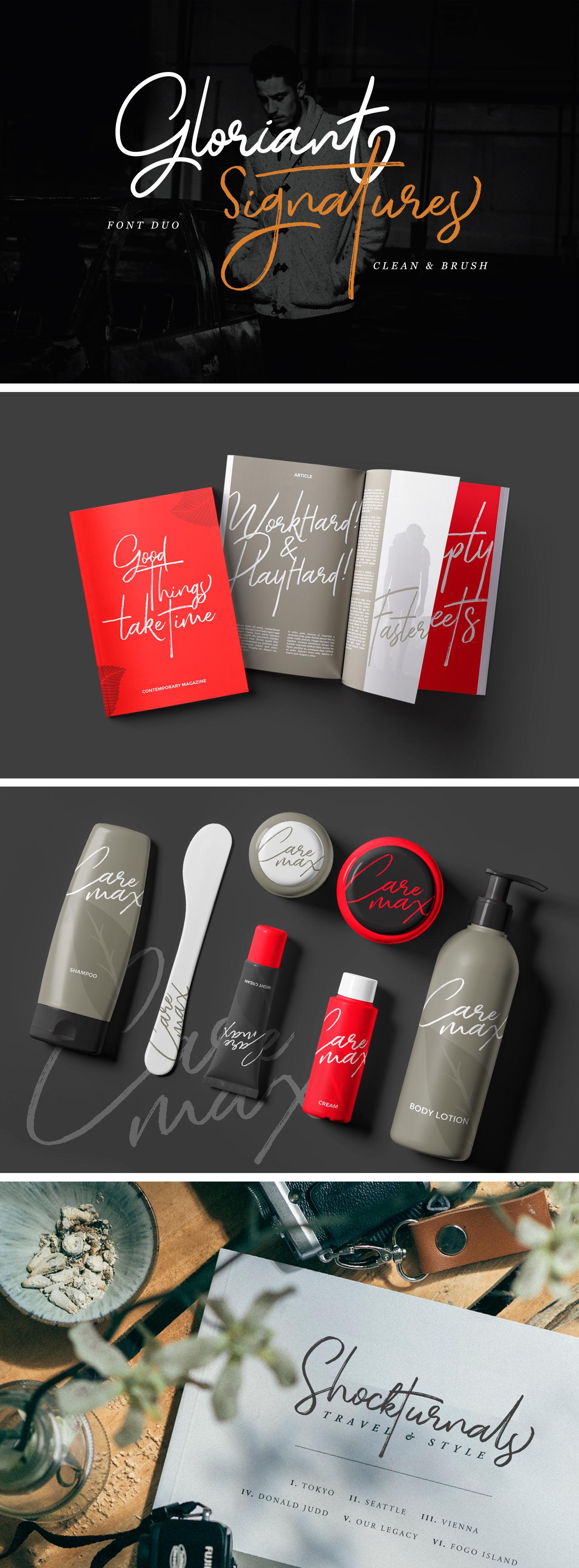 gloriant-signature-font