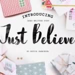 Just Believe Font