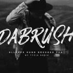 Dabrush Brush Font