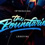 Boundaries Logotype Free Font