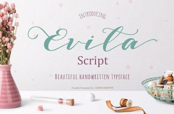 Evita Script Font Free Font