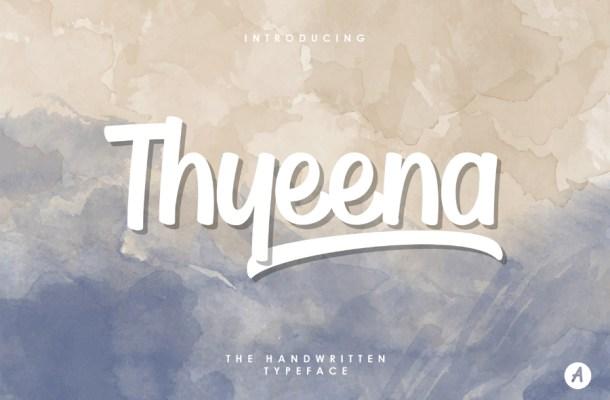 Thyeena Free Handwritten Typeface