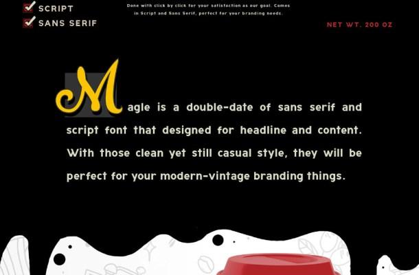 Magle Script Free Font