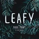 Leafy Brush Font