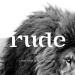 Rude Display Font