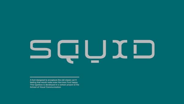 Squid Display Font