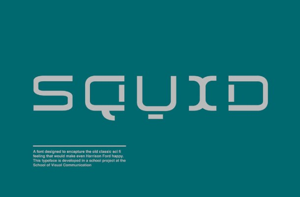 Squid Display Font