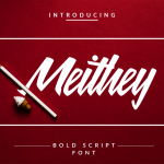 Meithey Bold Script Free Font