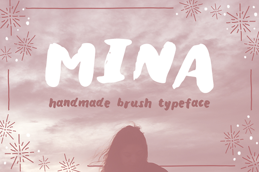 Mina-Brush-Typeface