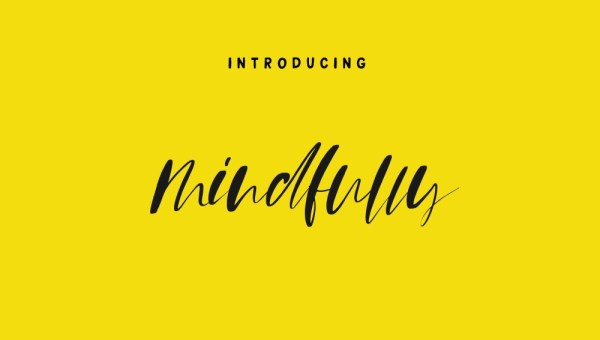 Mindfully Calligraphy Font