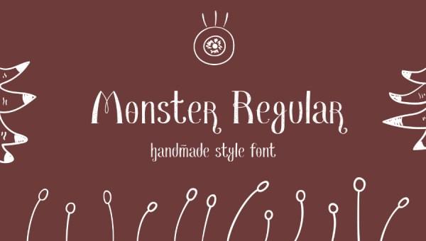 Monster Regular Font