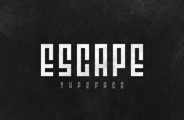 Escape Display Font