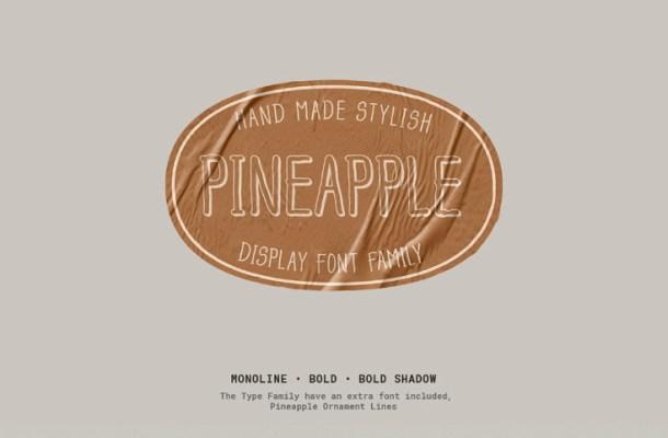 Pineapple Typefamily Free Font