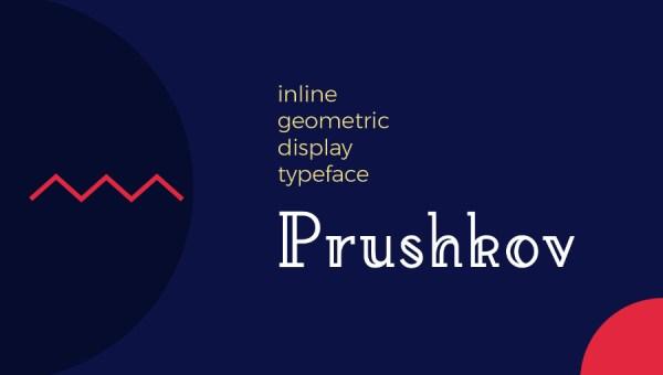 Prushkov Display Font