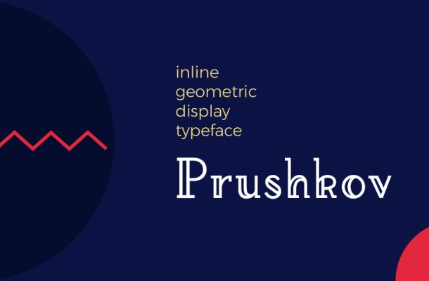 Prushkov Display Font