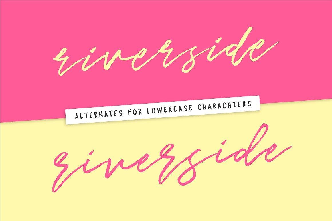 Riverside Avenue Script Font 7