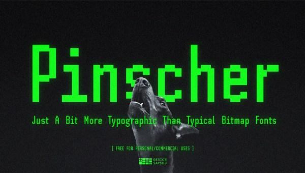 Pinscher Free Bitmap Font