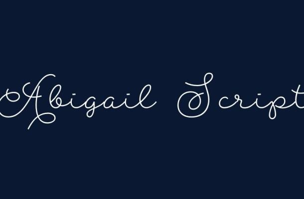 Abigail Script Free Font