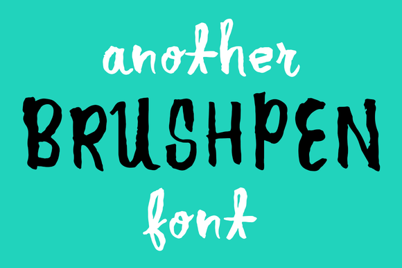 Another Brush Pen Free Font