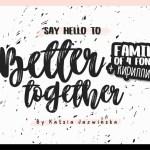 Better Together Script Free Font