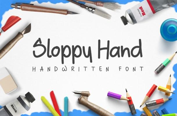 Sloppy Hand Free Font