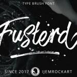Fusterd Brush Font