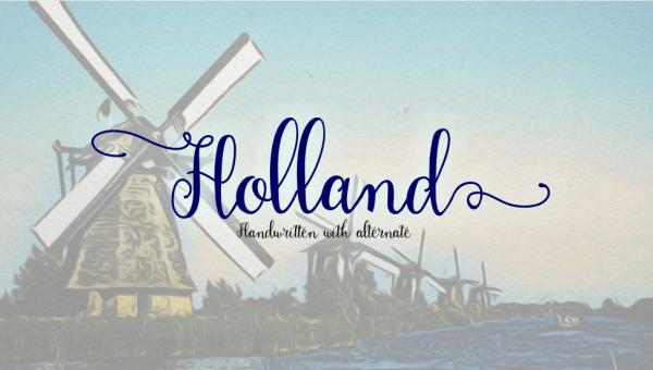 Holland Handwriting Font
