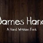 James Hand Free Font