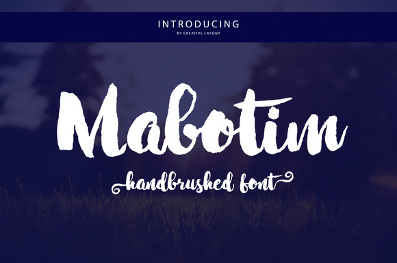Mabotim Brush Free Font