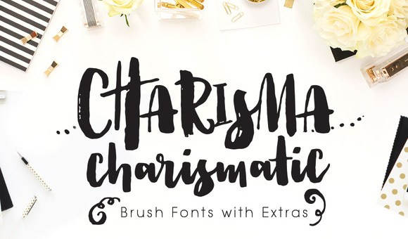 Charisma Brush Free Fonts with Extras