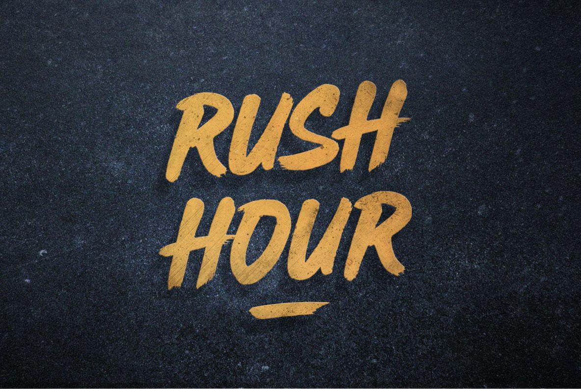 rush-hour-brush-font