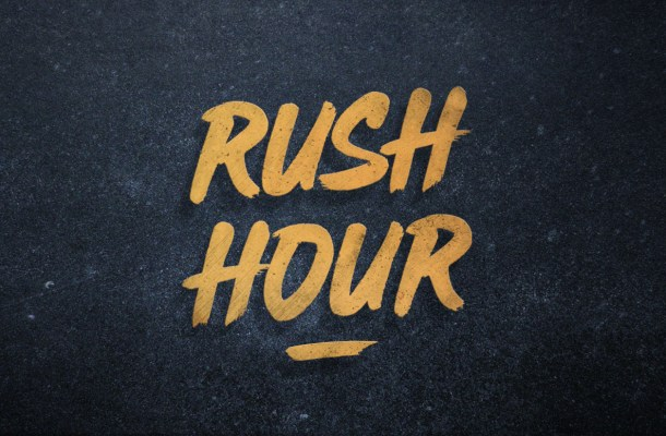 Rush Hour Brush Font