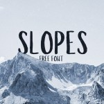 Slopes Brush Free Font