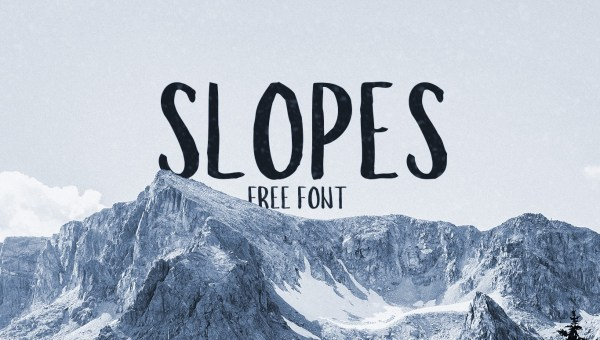 Slopes Brush Free Font