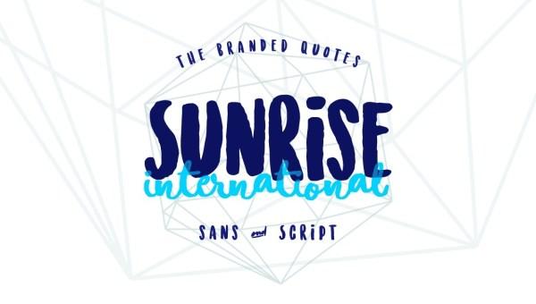 Sunrise International Free Font