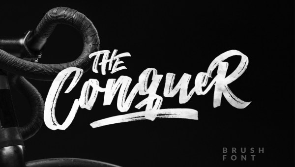 The Conquer Brush Free Font