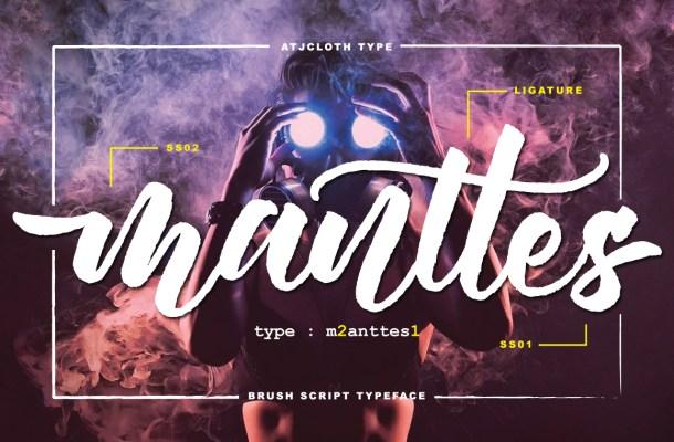 Manttes Script Brush Font
