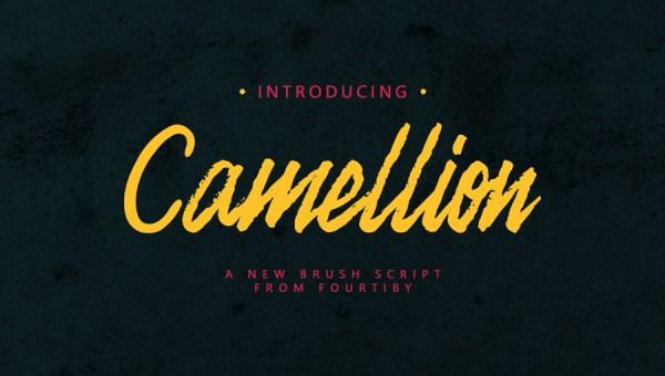 Camellion Brush Font