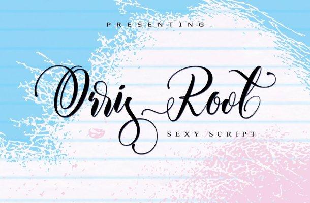 Orris Root Script Font