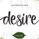 Desire Script Font